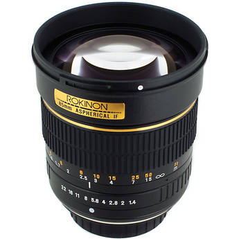 Rokinon 85mm f/1.4 Aspherical Lens for Nikon