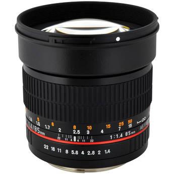 Rokinon 85mm f/1.4 Aspherical Lens for Olympus 4/3