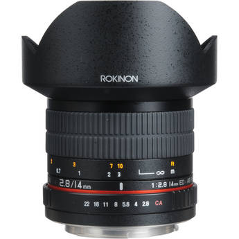 Rokinon 14mm Ultra Wide-Angle f/2.8 IF ED UMC Lens For Canon