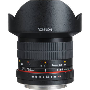 Rokinon 14mm Ultra Wide-Angle f/2.8 IF ED UMC Lens For Sony A Mount