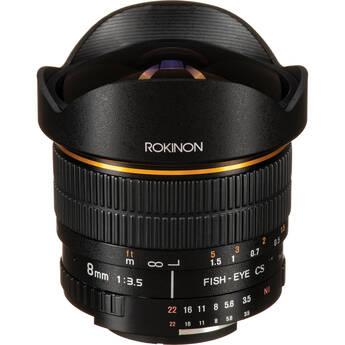 Rokinon 8mm Ultra Wide Angle f/3.5 Fisheye Lens for Nikon F Mount