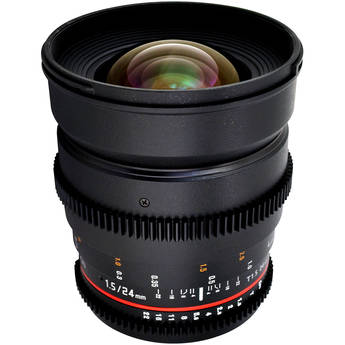 Rokinon 24mm T1.5 Cine ED AS IF UMC Lens for Canon EF Mount