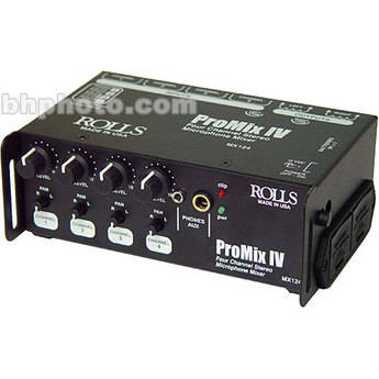 Rolls MX124 Portable 4-Channel Stereo Mixer