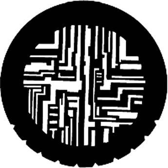 Rosco Steel Gobo #7209 - Computer Circuitry - Size E