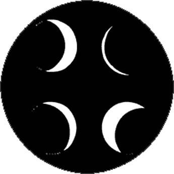 Rosco Standard Steel Gobo #7848 - Moon Phases