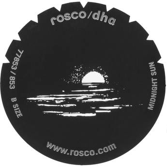 Rosco Steel Gobo #7853 - Midnight Sun
