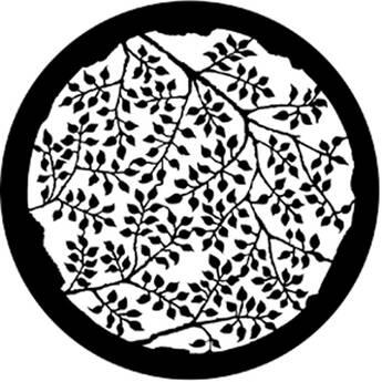 Rosco Steel Gobo #7863 - Branching Leaves