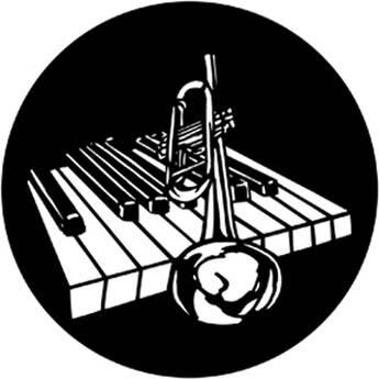 Rosco Steel Gobo #7933 - Piano Bar
