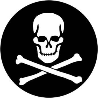 Rosco Steel Gobo #7949 - Skull & Crossbones