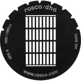 Rosco Steel Gobo #7980 - Jail Bars