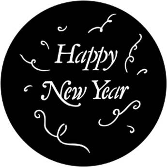 Rosco Steel Gobo #7982 - Happy New Year