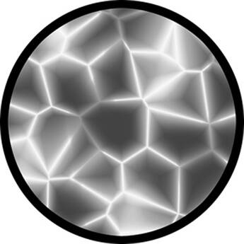 "Rosco Standard Black and White Glass Spectrum Gobo #81122 Cracking (86mm = 3.4"")"