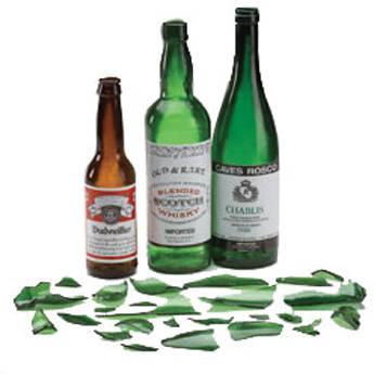 Rosco Breakaway Whiskey Bottle, Green