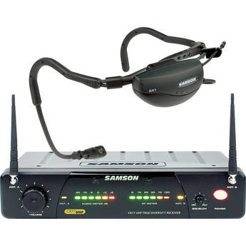 Samson AirLine 77 Fitness Head Worn Wireless Microphone System (Frequency N1- 642.375 MHz)