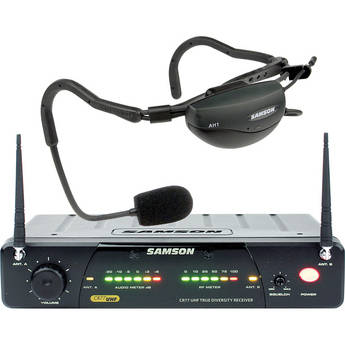 Samson AirLine 77 Vocal Head Worn Wireless Microphone System (Frequency N4- 644.750 MHz)
