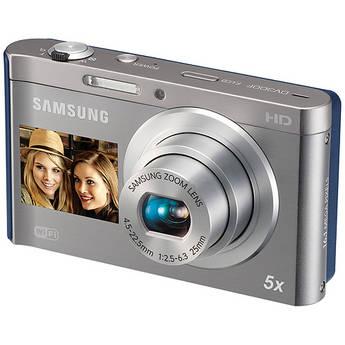 Samsung DV300F Digital DualView Camera (Silver / Blue)