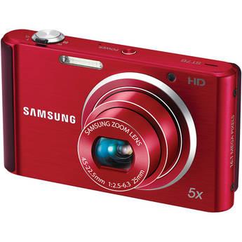 Samsung ST76 Compact Digital Camera (Red)