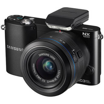 Samsung NX1000 Mirrorless Wi-Fi Digital Camera with 20-50mm Lens (Black)