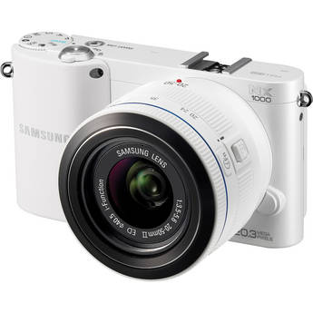 Samsung NX1000 Mirrorless Wi-Fi Digital Camera with 20-50mm Lens (White)