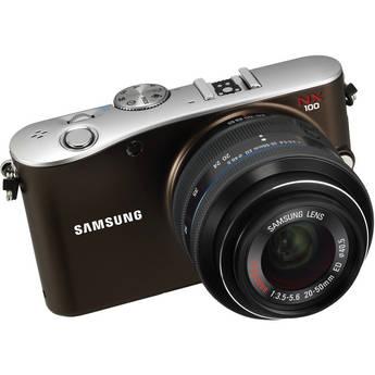 Samsung NX100 Mirrorless Digital Camera W/20-50mm Lens (Brown)