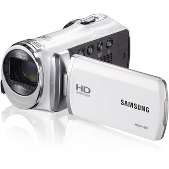 Samsung HMX-F90 HD Camcorder (White)