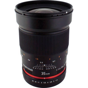 Samyang 35mm f/1.4 AS UMC Lens for Nikon F (AE Chip)