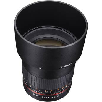 Samyang 85mm f/1.4 Aspherical Lens for Nikon With Focus Confirm Chip