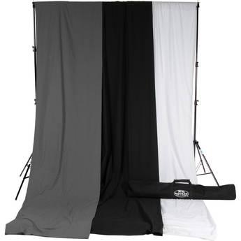 Savage Accent Muslin Background Kit (10 x 12', White/Gray/Black)