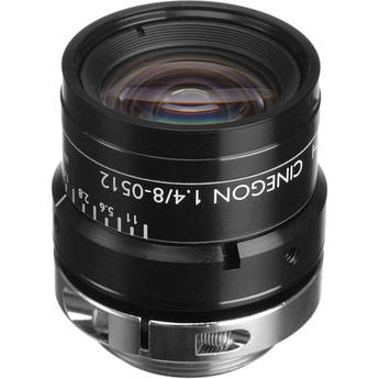 "Schneider 21041823 2/3"" 8mm f/1.4 C-Mount Cinegon Compact Lens"