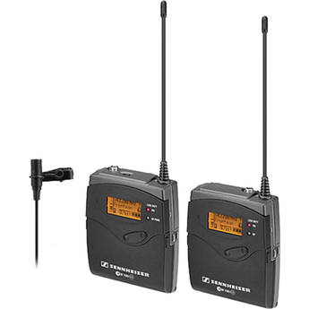 Sennheiser ew 112-p G3 Camera Mount Wireless Microphone System with ME2 Lavalier Mic - G (566-608 MHz)