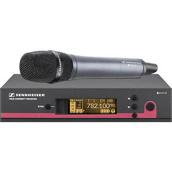 Sennheiser EW145 G3 Wireless Handheld Microphone System with E845 Mic (Frequency G / 566 - 608 MHz)