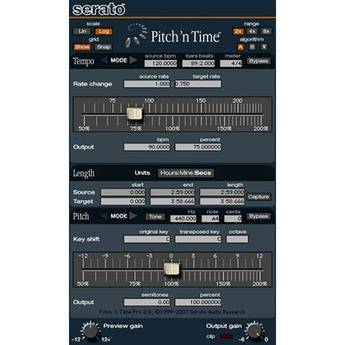 Serato Pitch 'n Time Pro - Time-Stretching and Pitch-Shifting Plug-In (Upgrade from Pitch 'n Time LE)