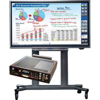 Sharp PN-L602B-PKG2A Bundle (Interactive Display, PC & Rolling Cart Floor Stand)