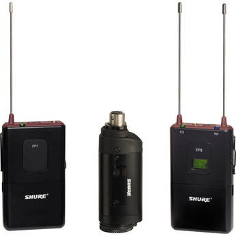 Shure Shure FP Wireless Bodypack & Plug-on Combo System (G4 / 470 - 494MHz)