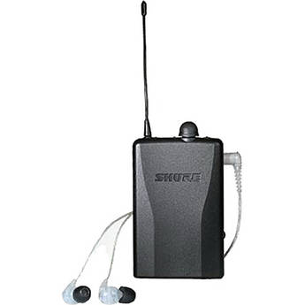 Shure PSM 200 Hardwired Beltpack Monitor with SE215 In-Ear Headphones