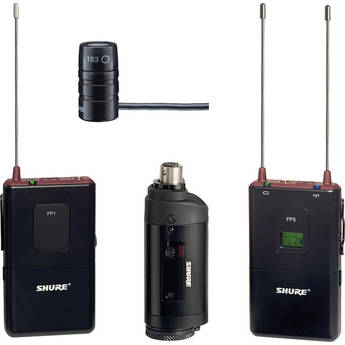 Shure FP Wireless Bodypack, Lavalier & Plug-on Combo System (G5 / 494 - 518MHz)