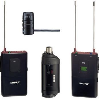 Shure FP Wireless Bodypack, Lavalier & Plug-on Combo System (J3 / 572 - 596MHz)
