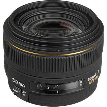 Sigma 30mm f/1.4 EX DC HSM Autofocus Lens for Canon Digital