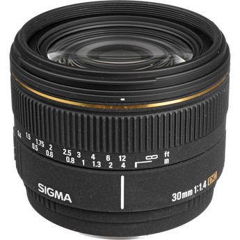 Sigma 30mm f/1.4 EX DC Autofocus Lens for Digital Camera