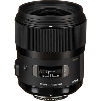 Sigma 35mm f/1.4 DG HSM Lens for Nikon DSLR Cameras