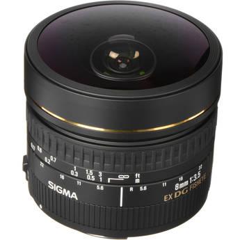 Sigma 8mm f/3.5 EX DG Circular Fisheye Autofocus Lens for Canon EOS