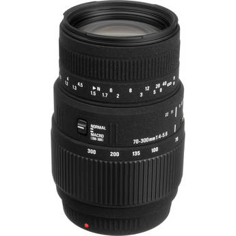 Sigma 70-300mm f/4-5.6 DG Macro Lens for Sony and Minolta Cameras