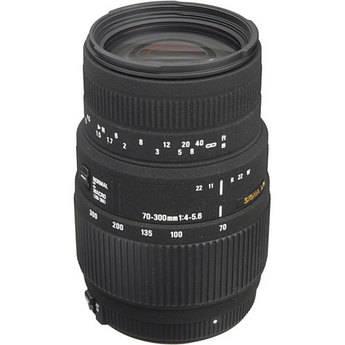 Sigma 70-300mm f/4-5.6 DG Autofocus Lens for Nikon F Mount Cameras