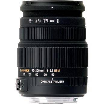 Sigma 50-200mm f/4-5.6 DC OS HSM High Performance Telephoto Zoom For Nikon Cameras