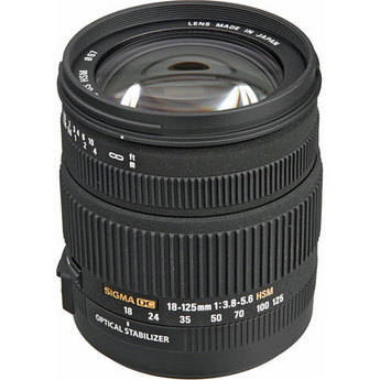 Sigma 18-125mm f/3.8-5.6 DC OS HSM Lens for Canon Digital EOS