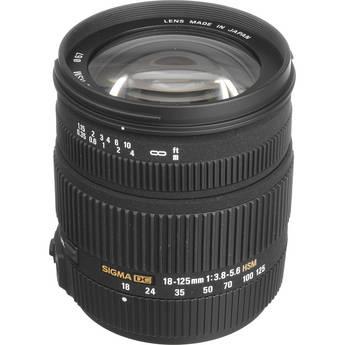 Sigma 18-125mm f/3.8-5.6 DC HSM Zoom Lens
