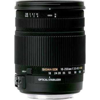 Sigma 18-250mm f/3.5-6.3 DC OS HSM Autofocus Zoom Lens For Sigma Cameras