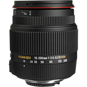Sigma 18-200mm f/3.5-6.3 II DC OS HSM Lens for Nikon
