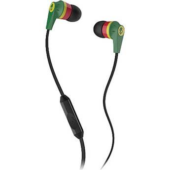 Skullcandy INK'D MIC'D Earbud Headphones (Rasta)