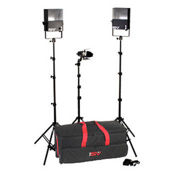 Smith-Victor SL270 3-Light 1350 Watt Softlight Video Interview Kit (120-240V AC/12 VDC)